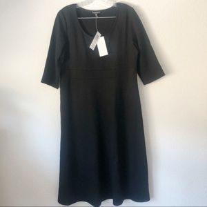 NWT Eileen Fisher Petite Black Midi Dress